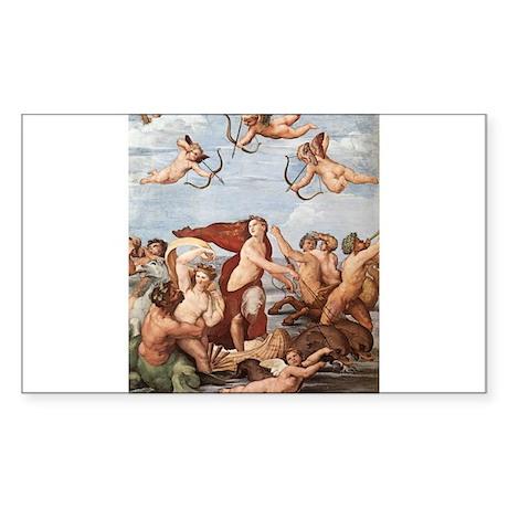 The Triumph of Galatea Sticker (Rectangle)