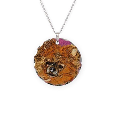 Long Haired Chihuahua Necklace Circle Charm