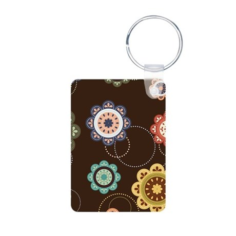 Urban Chic Floral Aluminum Photo Keychain