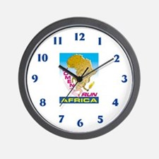 """Women Run Africa"" Wall Clock"