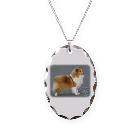 Shetland Sheepdog 8R003D-12 Necklace Oval Charm
