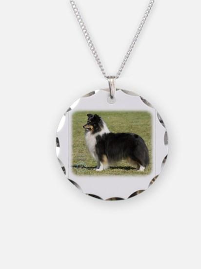 Shetland Sheepdog 9J088D-06 Necklace Circle Charm