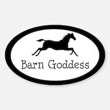 Barn Goddess - Oval Decal
