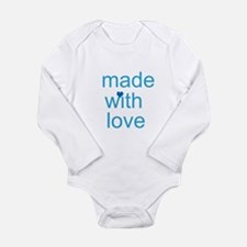 made with love Long Sleeve Infant Bodysuit
