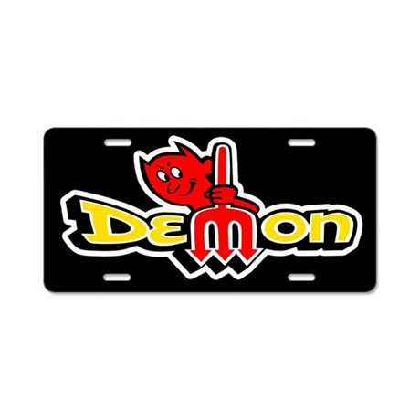 Demon - Aluminum License Plate