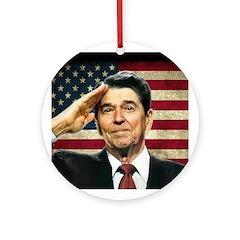 Reagan Salute... Ornament (Round)