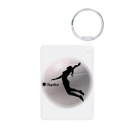 ispike Volleyball Aluminum Photo Keychain