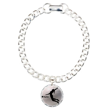 ispike Volleyball Charm Bracelet, One Charm