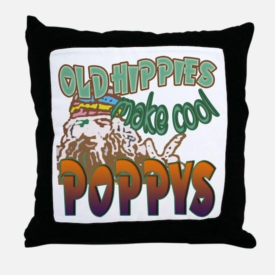 OLD HIPPIES MAKE COOL POPPYS Throw Pillow