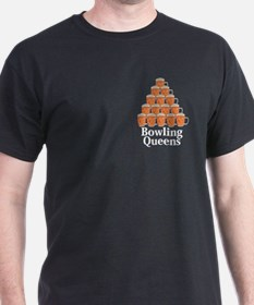 Bowling Queens Logo 7 T-Shirt Design Front Po