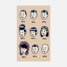 History of Mens Hair Decal
