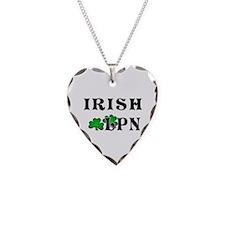 Irish Nurse LPN Necklace Heart Charm