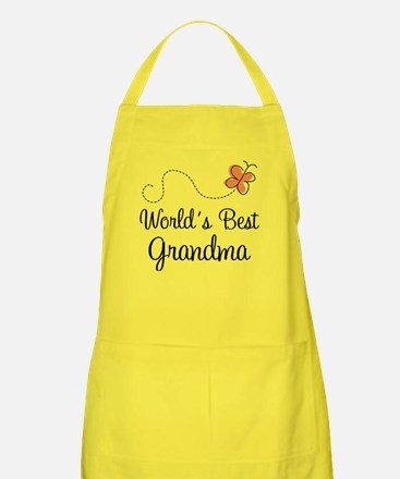 Worlds Best Grandma Apron for the grandmother