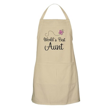 World's Best Aunt Butterfly Apron