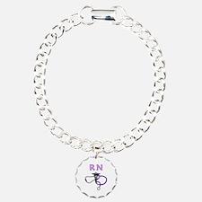 RN Nurse Medical Charm Bracelet, One Charm