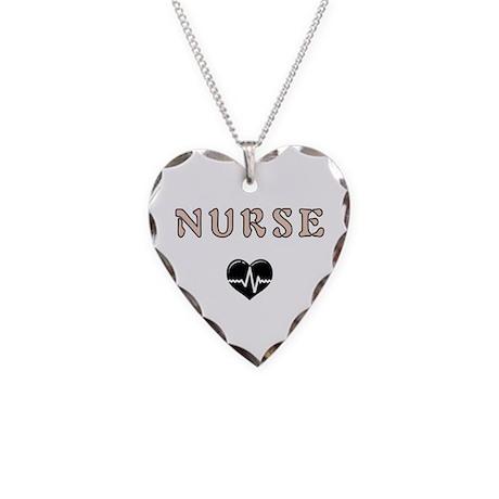 Nurse Necklace Heart Charm