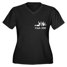 Club 300 Logo 6 Women's Plus Size V-Neck Dark T-Sh