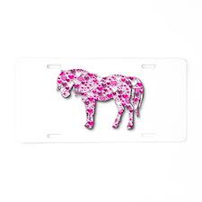 HEARTHORSE - Pink Aluminum License Plate
