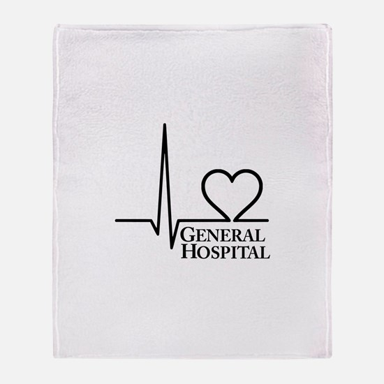 I Love General Hospital Throw Blanket
