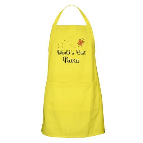 Worlds Best Nana Gift Apron For Grandma