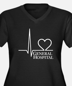 I Love General Hospital Women's Plus Size V-Neck D