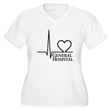 I Love General Hospital Women's Plus Size V-Neck T