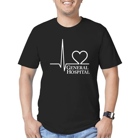 I Love General Hospital Men's Fitted T-Shirt (dark