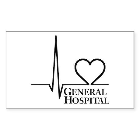 I Love General Hospital Sticker (Rectangle 10 pk)