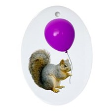 Squirrel Balloon Ornament (Oval)