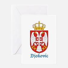djokovic-crest Greeting Cards