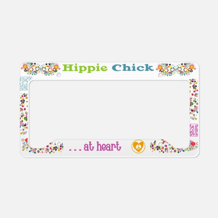 Hippie Chick at Heart License Plate Holder