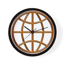 """""""Mahogany Globe"""" Wall Clock"""