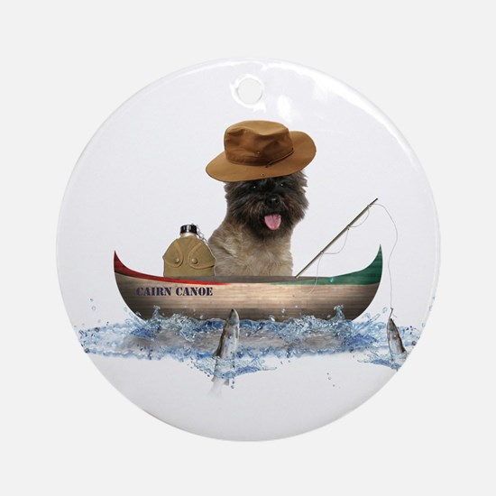 Cairn Terrier Fishing Ornament (Round)