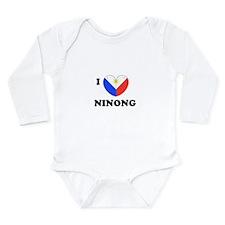 Unique Ninong Long Sleeve Infant Bodysuit