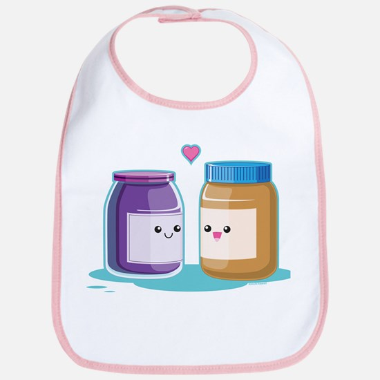 Peanut Butter and Jelly Bib