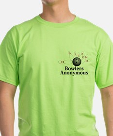 Bowlers Anonymous Logo 2 T-Shirt Design Fron