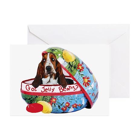 Bassett Hound Easter Greeting Cards (Pk of 10)
