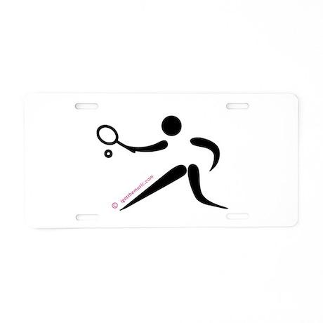 Tennis Black Aluminum License Plate