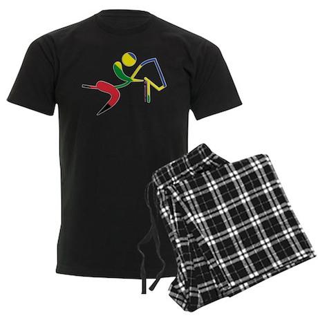 Equestrian Horse Olympic Men's Dark Pajamas