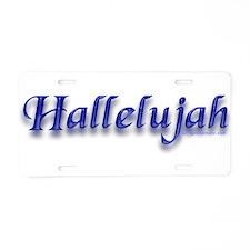 Hallelujah Aluminum License Plate