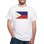 Philippine Flag White T-Shirt