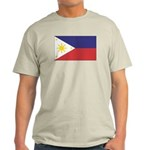Philippine Flag Ash Grey T-Shirt