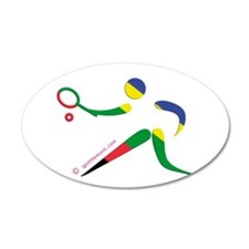 Tennis Olympic 38.5 x 24.5 Oval Wall Peel