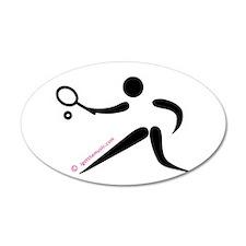 Tennis Black 38.5 x 24.5 Oval Wall Peel