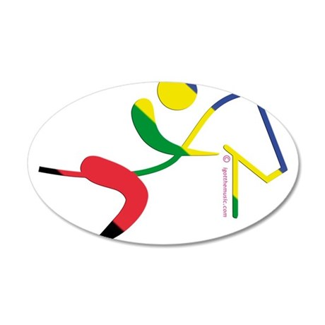 Equestrian Horse Olympic 22x14 Oval Wall Peel