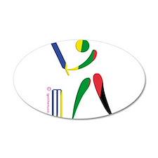 Cricket Olympic 22x14 Oval Wall Peel