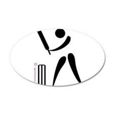 Cricket Black 38.5 x 24.5 Oval Wall Peel