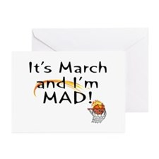 Mad about March   Greeting Cards (Pk of 10)