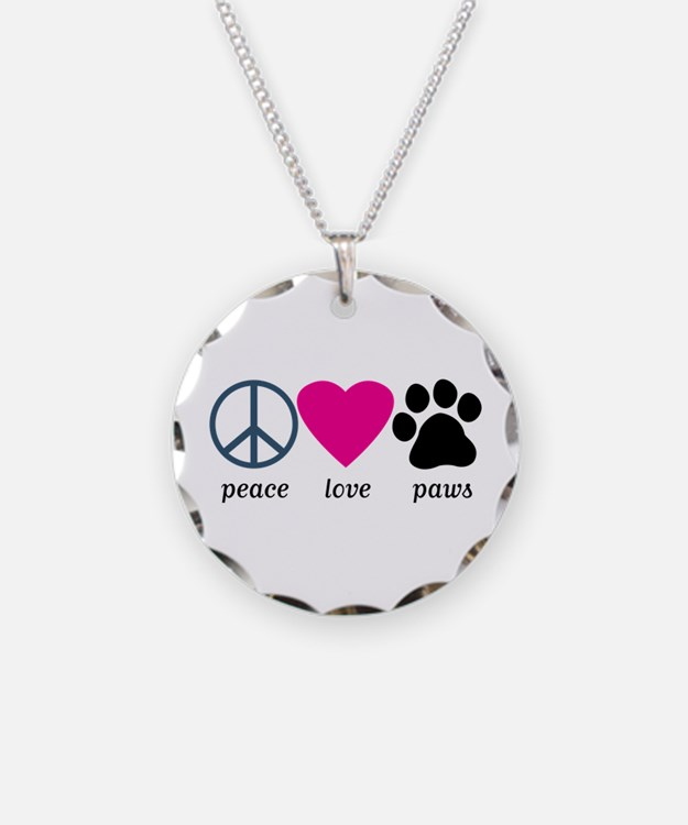 Peace Love Paws Necklace