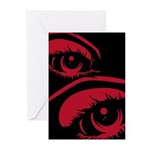 Spooky Red Eye Greeting Cards (Pk of 20)